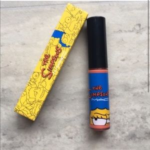 Limited edition Mac cosmetics marge Simpson gloss